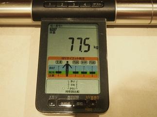 ダイエット18日目体重