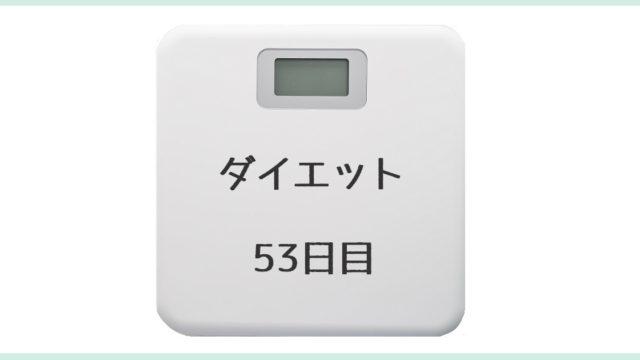 ダイエット記録53日目のアイキャッチ画像