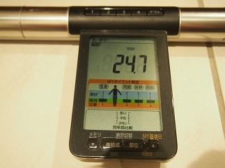 ダイエット24日BMI